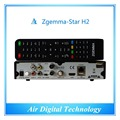 20pc/lot  Best Wholesale Full Channels Software Zgemma-Star H2 Satellite Receiver With Linux OS Enigma2 DVB-S2+T2/C Combo Tuners