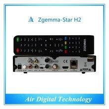 20 pc/lot Mejor Mayorista Completo Canales Software Receptor de Satélite Zgemma Estrellas H2 Con SISTEMA OPERATIVO Linux Enigma2 DVB-S2 + T2/C Combo Sintonizadores