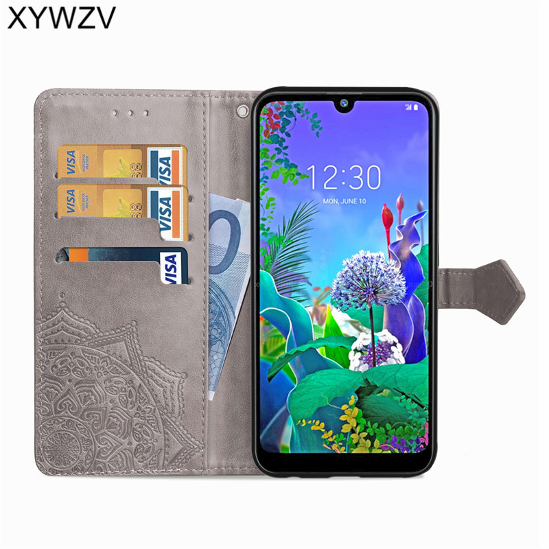 Image 3 - For LG Q60 Case Shockproof Cover Luxury Flip Wallet Soft Silicone Phone Case Card Holder Fundas For LG Q60 Back Cover For LG Q60-in Flip Cases from Cellphones & Telecommunications
