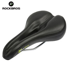 RockBros Synthetic Leather Steel Rail Hollow Saddle Breathable Soft Cushion Road MTB Fixed Gear Bike Bicycle Cycling Seat Saddle(China)