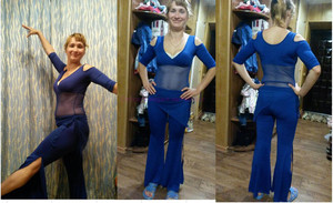 Image 4 - מכירה לוהטת! חלב משי ורשת בטן ריקוד חליפה למעלה, לחכות ירך צעיף ומכנסיים 3pcs בטן ריקוד סט 5 צבעים M L XL