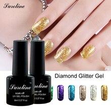 Saroline 3D diamond Glitter UV LED Nail Gel Polish lucky colors Soak Off Starry Gel Varnishes Esmaltes Base Top Coat Gel Lacquer
