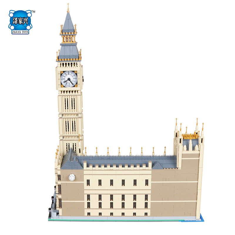 4163Pcs Big Ben Elizabeth Tower Educational DIY 3D Model Building Kits Blocks Bricks Figures Toys for Children Gift with Lepins 10646 160pcs city figures fishing boat model building kits blocks diy bricks toys for children gift compatible 60147
