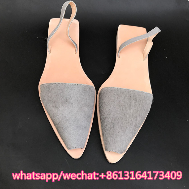 e72a4e903704 kqaoqao Pointed Peep Toe Slip-on Flats 2018 New Arrival Soft Leather Shoes  Woman Luxury Design Women Sandals Flip Flops Slippers