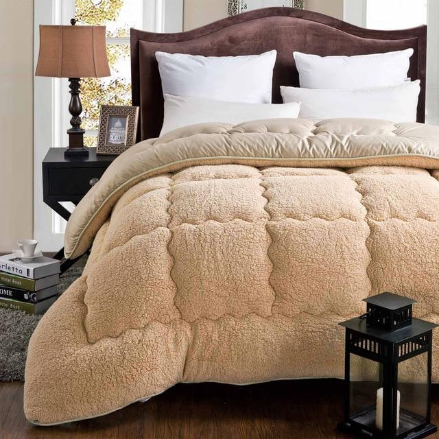 100 Cashmere Winter Warm Thick Quilt Comforter Blanket Duvet Filling With Cotton Super Soft Spring