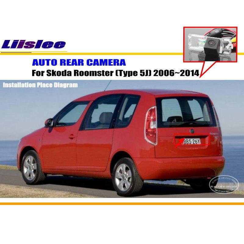 Liislee para Skoda Roomster (tipo 5J) 2006 ~ 2014-cámara trasera ...
