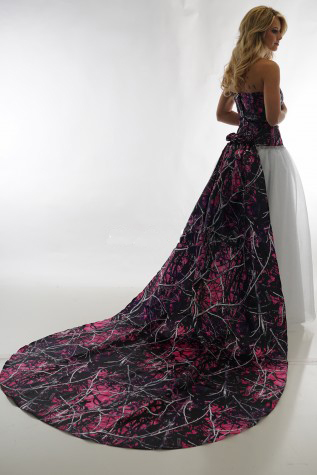 Camouflage Wedding Dresses.Us 158 0 Pink Muddy Girl Camouflage Wedding Dresses 2019 Camo Detachable Train Vestidos De Noiva Custom Make In Wedding Dresses From Weddings