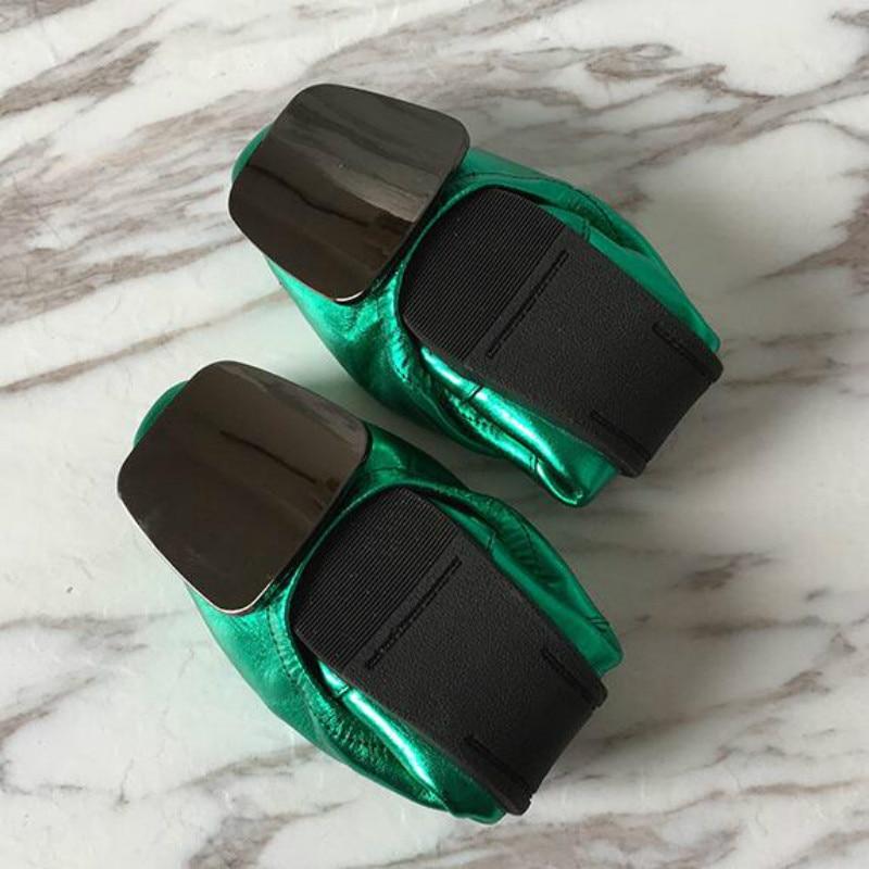 Chaussures Femmes Dwayne Métal Profonde Plat Véritable Super Egg Simples Roll Peu Doux Ballet Grande Cuir En Talons Bouche Taille Décoration qnpWzaOq