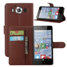 950 Vintage Wallet Leather Phone Case For Microsoft Lumia 950 RM-1106 RM-1104 RM110 Flip Cover Luxury Case Coque Stand Card Slot