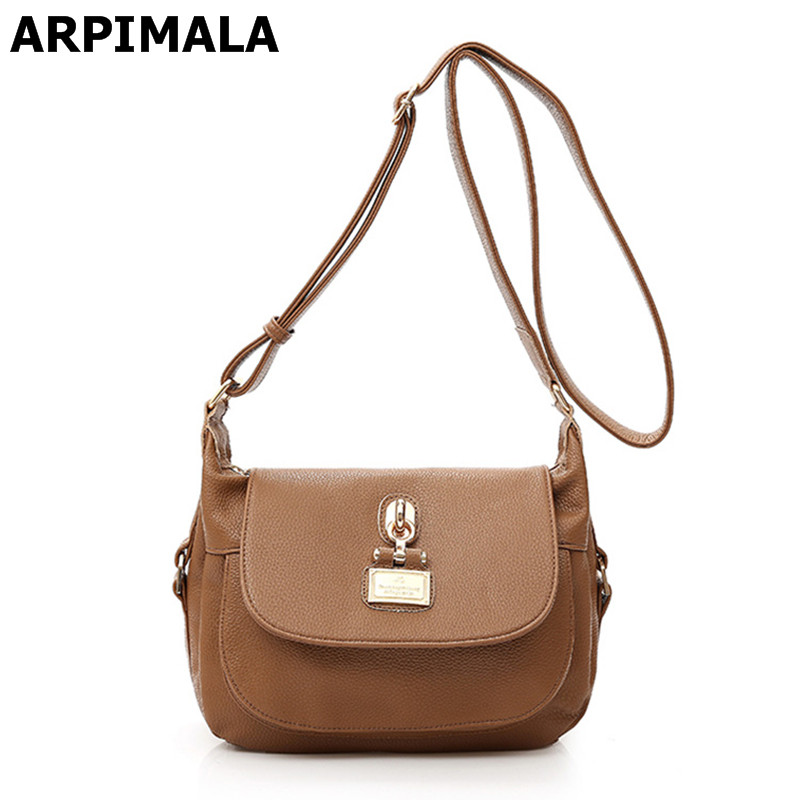 ФОТО ARPIMALA 2017 Women Messenger Bags Genuine leather Shoulder Bags Casual Female Best Cross Body Bag Designer Shopper Handbags