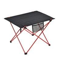 Outdoor Furniture Meja Merah Folding Camping Table Light Warna Berat Ultralight Meja Memancing Meja Modern Lipat Furniture
