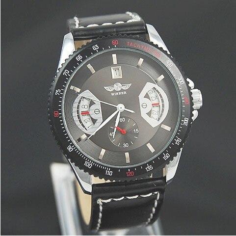 aliexpress com buy luxury men winner mechanical watches luxury men winner mechanical watches amazon hot leather strap automatic mechanical analog wrist watches