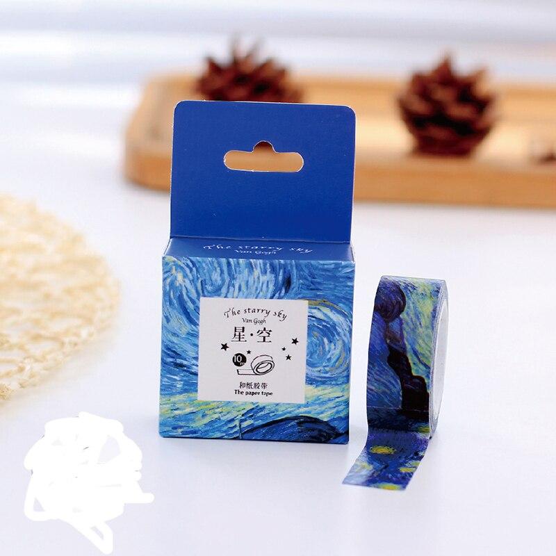 1 pcs Size 15 mm*10m DIY Van Gogh painting paper washi tapes/masking tape/decorative adhesive tapes/School Supplies 27(China (Mainland))