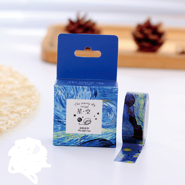 1 pcs Size 15 mm*7m DIY Van Gogh painting paper washi tapes/masking tape/decorative adhesive tapes/School Supplies 27