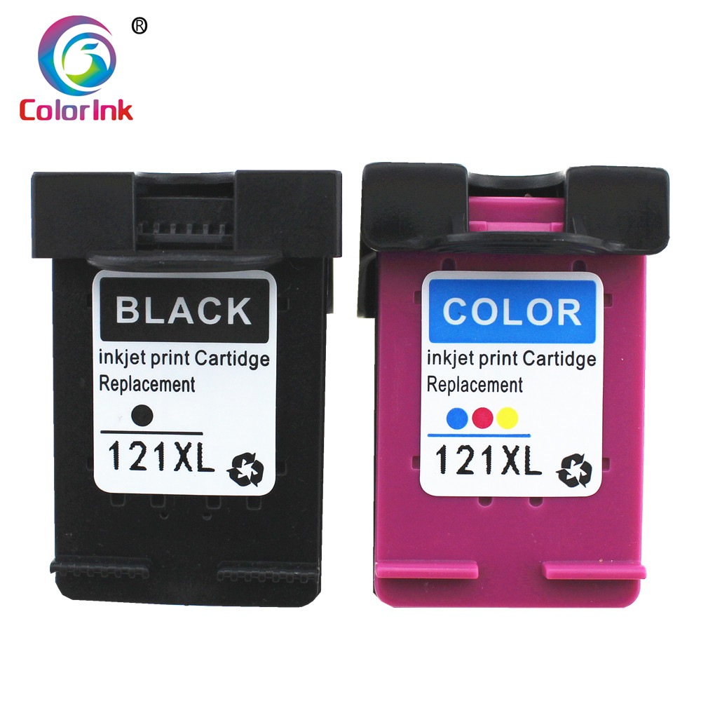 ColoInk 2Pack 121XL ink replacement for <font><b>hp</b></font> <font><b>121</b></font> XL cartridge for <font><b>HP</b></font> Deskjet D2563 F4283 F2423 F2483 F2493 F4213 F4275 F4283 image