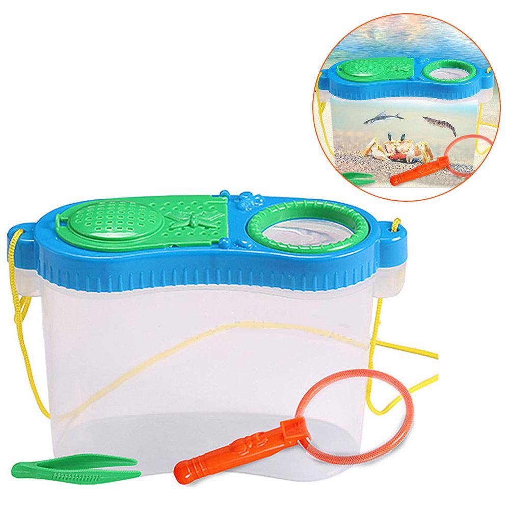 Игрушка для раннего образования, кормление насекомых, экспериментальная коробка для наблюдения, исследования насекомых, пластиковая коробка для инструментов, набор игрушек-пазлов - Цвет: Многоцветный