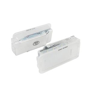Image 2 - ANGRONG 2x לבן LED לשמירת תא מטען תא כפפות אור מנורות פנים אור עבור פיג ו 206 207 306 307 3008 406 407 5008 607 806