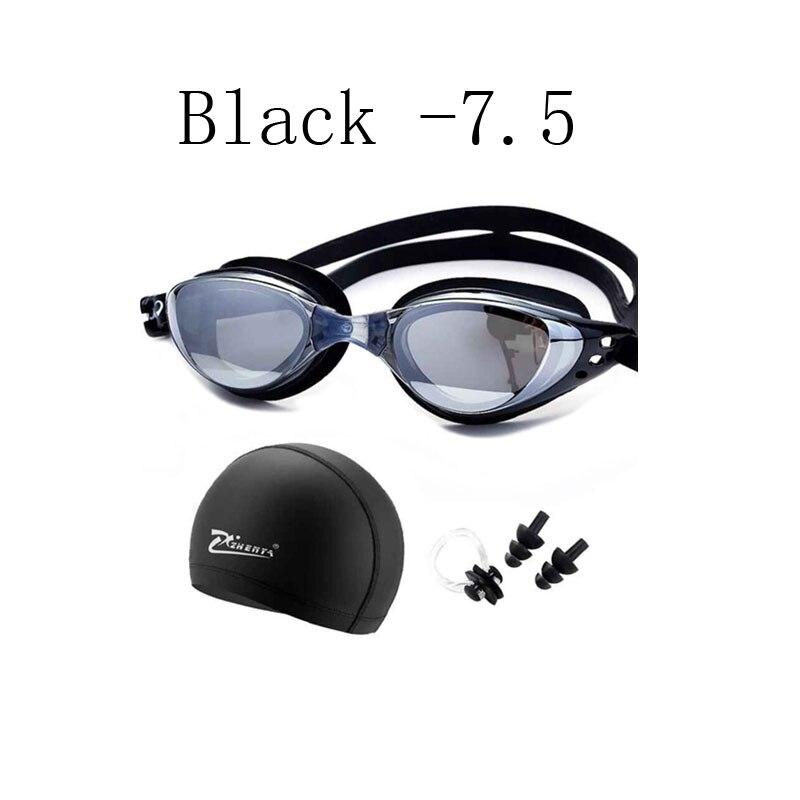 bc14b59dd Gafas de natación de miopía profesional de silicona impermeable sombrero  piscina natacion gorras de natación auriculares arena gafas de natación  gafas en ...