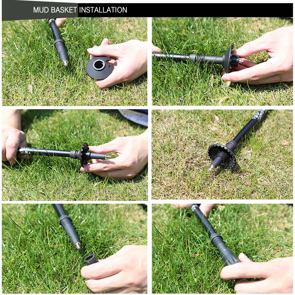 Image 5 - Carbon Fiber Lightweight Trekking Pole Adjustable Telescopic Hiking Walking Stick 3 Section For Camping Hiking-in Walking Sticks from Sports & Entertainment