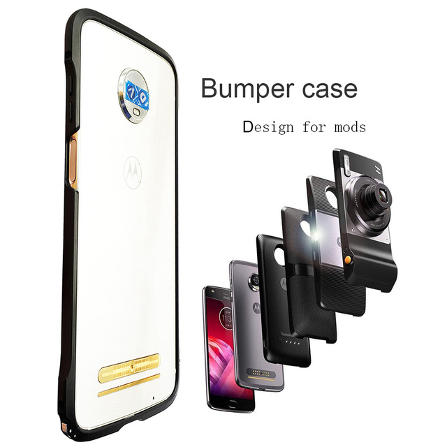 meet 6ed18 2f770 US $6.96 5% OFF|For Moto Motorola Z3 / Z3 play / Z2 play / Z2 force  Shockproof Protective Bumper Case Cover For Moto Mods Back Cover Case-in  Phone ...