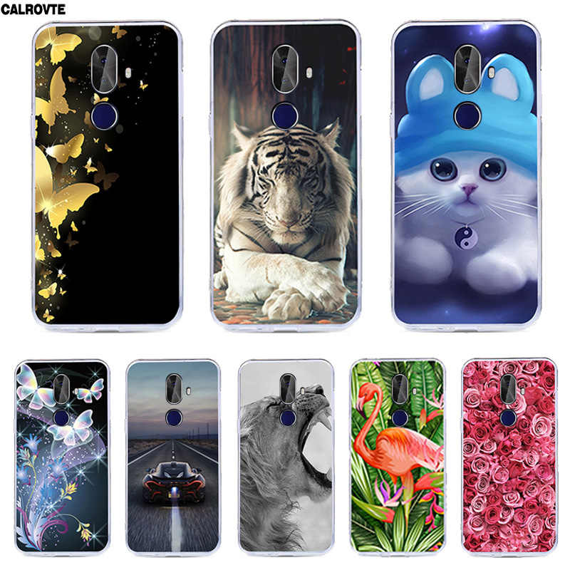 "Phone Case For Cubot X18 Plus Cute Flowers Soft Silicone Cover For Cubot X 18 Plus Coque Capa Shell 5.99"" Painted Cases"