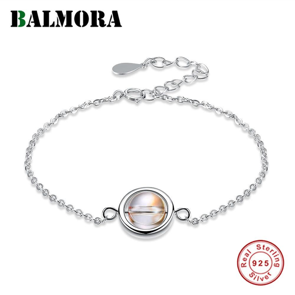 d3f0ea0beef8 BALMORA de Plata de Ley 925 pulseras de cristal para las mujeres dama regalo  de la