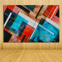 Unframed Large Abstract Oil Painting Print On Canvas Modern Abstract Art Beautiful Picture Wall Art Room