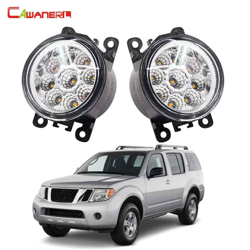 Cawanerl 1 Pair Car Styling LED Light Fog Lamp Daytime Running Light DRL 12V High Power For NISSAN Pathfinder R51 2005-2015
