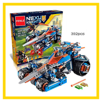 LEPIN 14012 Nexus Knights Clay S Rumble Blade Jestro Clay Building Block Scurrier Compatible With Gift