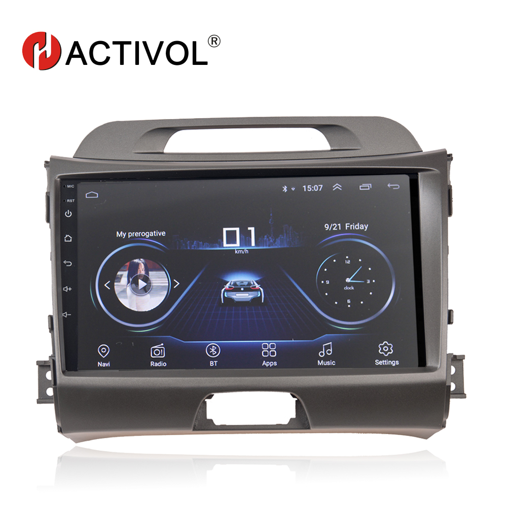 HACTIVOL Android 8 1 car dvd for KIA sportage 3 4 2010 2011 2012 2013 2014