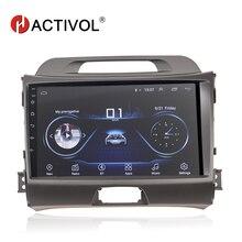 HACTIVOL الروبوت 8.1 مشغل أسطوانات للسيارة لكيا سبورتاج 3 4 2010 2011 2012 2013 2014 2015 سيارة تحديد المواقع والملاحة 2 الدين سيارة مشغل وسائط متعددة