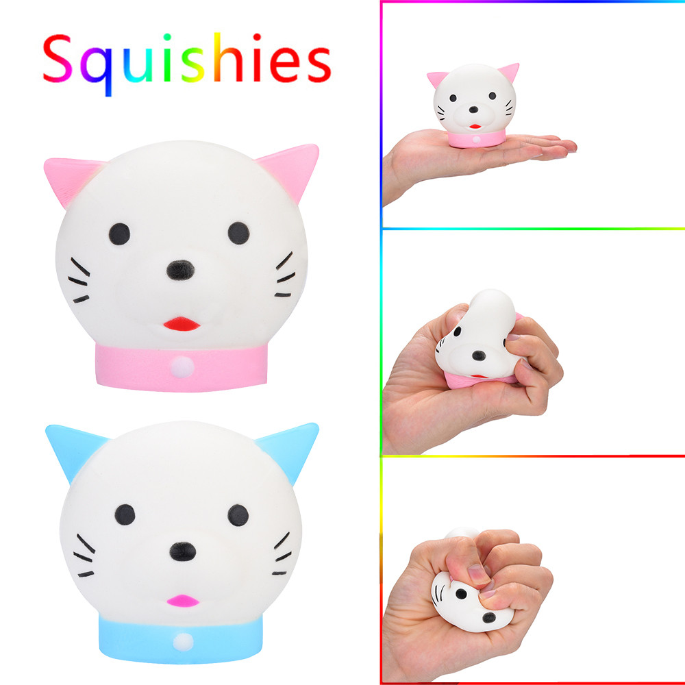 Kawaii Cat Scented Squishies Slow Rising Kids Toys Stress Relief Toy Hop Props For Children Anti Stress Drop Shipp W604