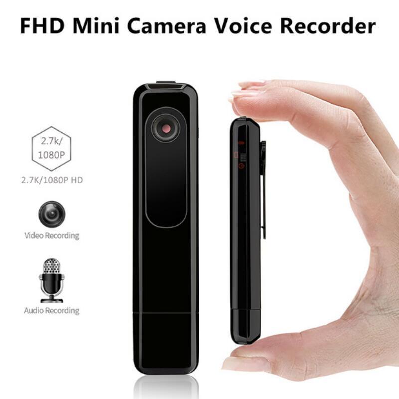 C18 Mini Camera 2.7K HD H.264 Pen Camera Portable Working When Charging Voice Recorder Mini DV Camcorder Micro Camera micro camera compact telephoto camera bag black olive