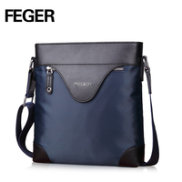 New Arrival FEGER Business Casual Versatile Wrapping Edge Nylon Shoulder Bag For Man