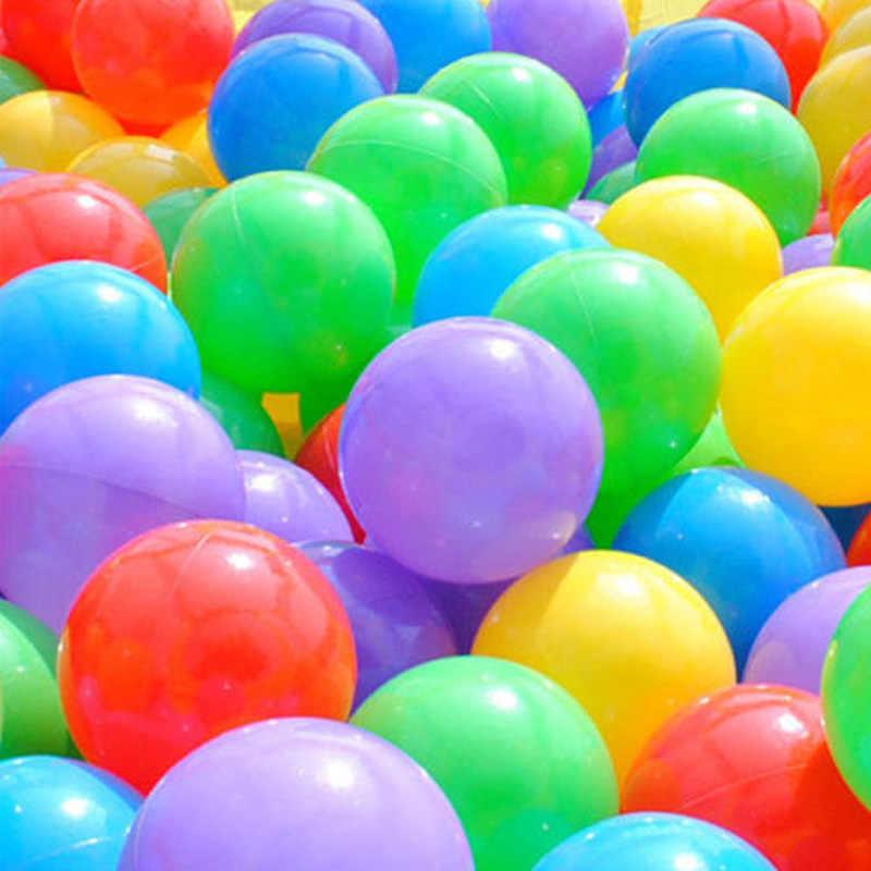 100 pçs colorido divertido bola de plástico macio oceano bola bebê criança brinquedo nadar pit brinquedo