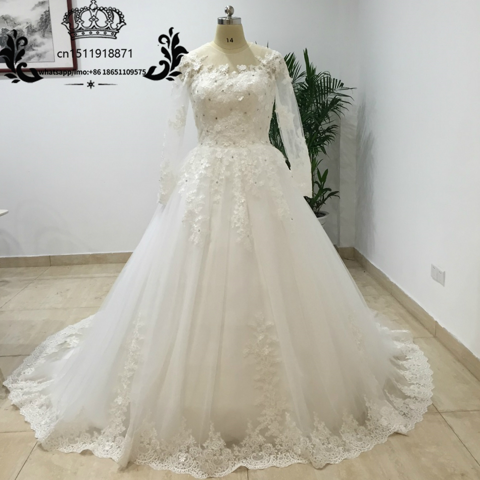 Wedding Gowns With Trains: Luxury Cathedral Train Ball Gown Wedding Dresses 2016 Lace
