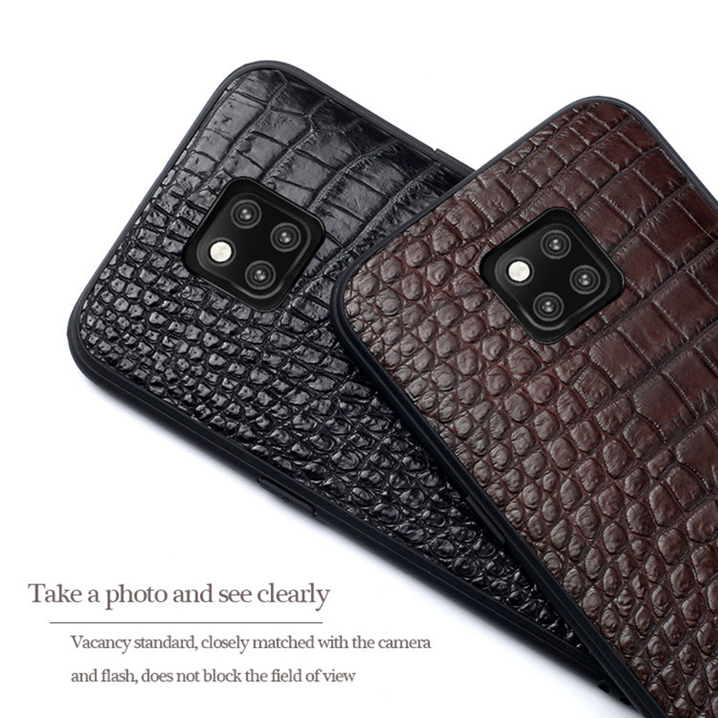 Genuine Crocodile Leather phone case for Huawei mate 20 Pro Mate 30 P20 P30 Pro Lite Cover For Honor V20 10 20i 20 Pro 8x Luxury - 4