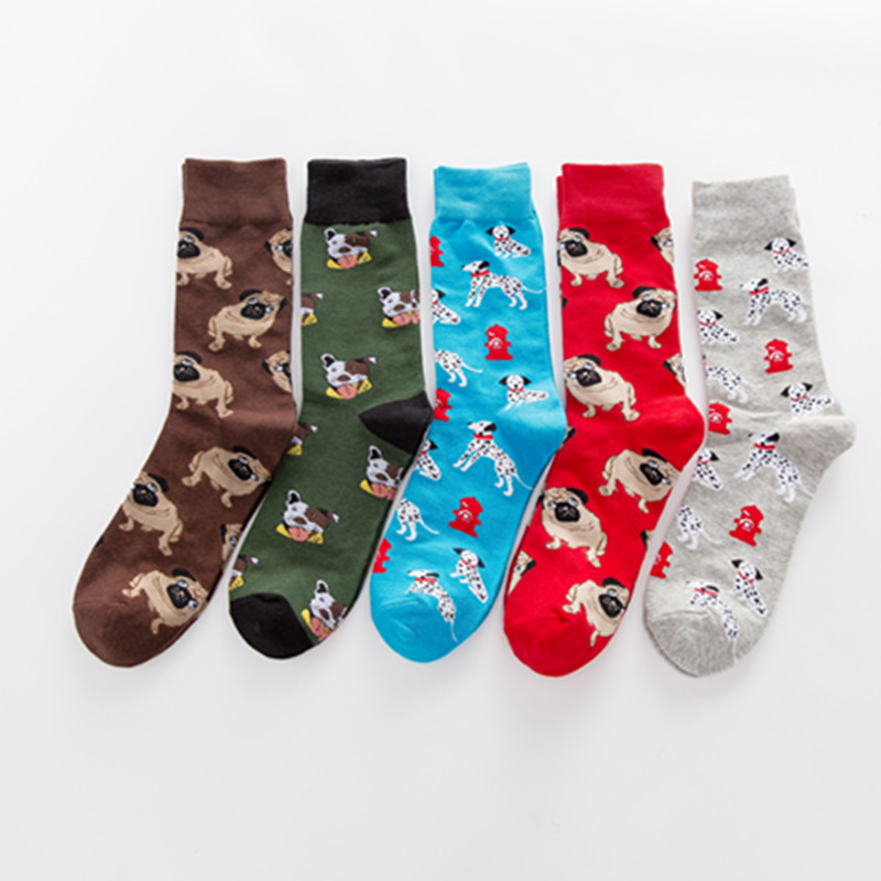 New Arrival of Colorful Dog Bunny Mens Socks Novelty Fun Funny Men Socks Wholesale Cheap Cool Socks Clothing Dresses Skarpetki