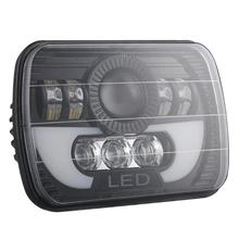 Car Light Lamp Accessories 7x6/ 5x7 inch 300W LED Headlight Rectangular Hi-Lo for Car Truck SUV Light Car Styling czg 5780 silver color 7 square led headlight 80w 5x7 led headlamp with hi low beam 5x7 inch led head lamp for truck heavy duty