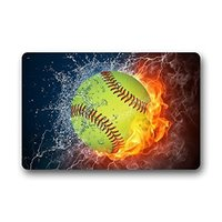Fashion Living Room Doormat Cool Baseball Fire And Water 40x60cm Doormat Custom Door Mat Home Decor