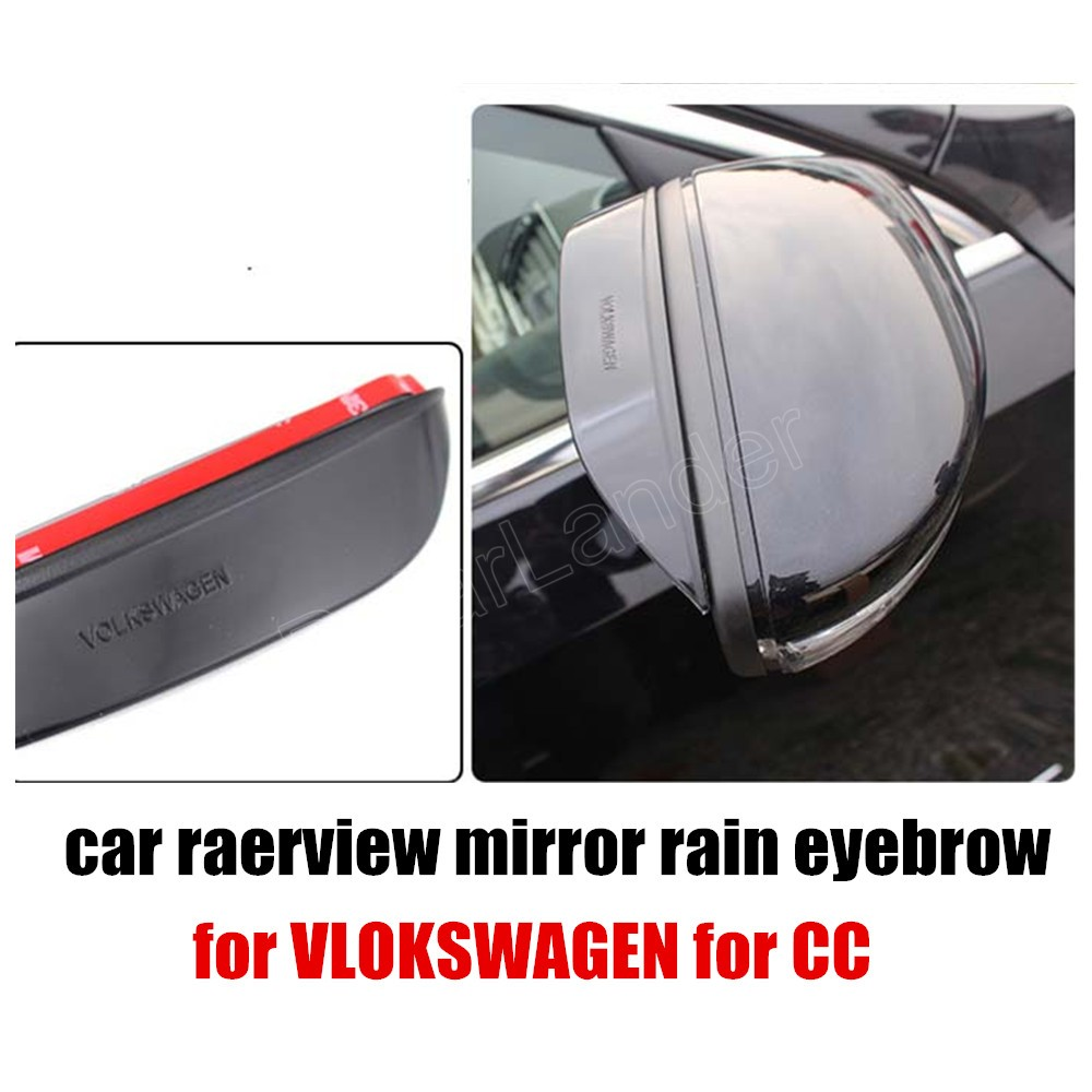 best selling hot sale Car Rearview Mirror Rain Blades car back mirror eyebrow rain cover for VOLKSWAGEN for CC 10-15 2Pcs