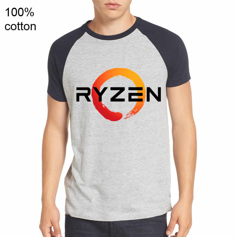 PC CP CPU Uprocessor AMD RYZEN T Shirt geek programmer tees Gaming camiseta Computer ZEN Peripherals cool cotton geek T-Shirt