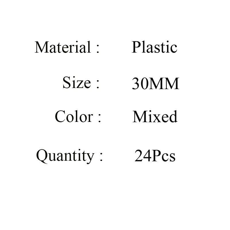 Бесплатная доставка 30 мм 24 шт./лот Пластиковые Подвески рождественской елки Подвески DIY ювелирных поиск для колье браслет