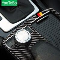 Carbon Fiber Car Interior Multimedia Handrest Panel Car Covers For Mercedes C Class E Class W204