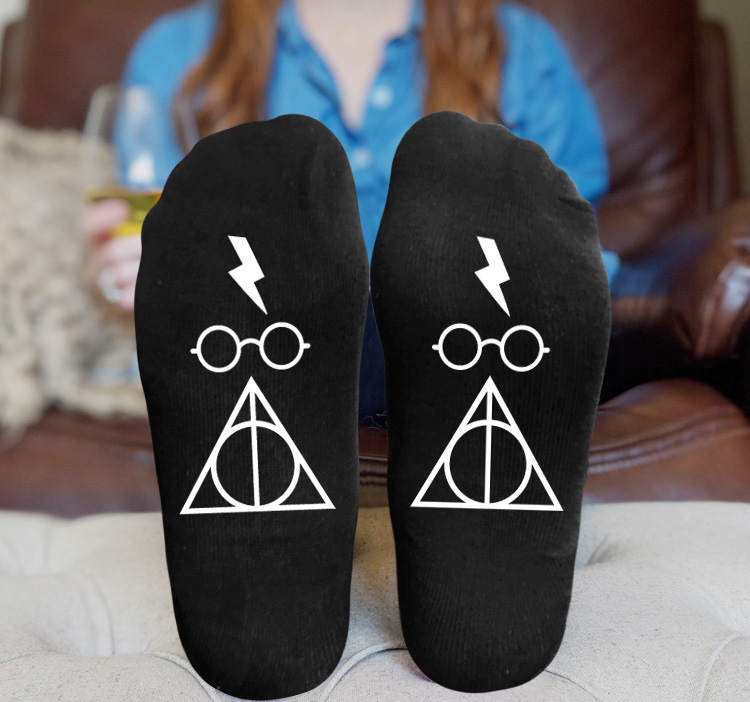 Adult's The Deathly Hallows printing waist Socks middle Cut Ankle Sock warm socking