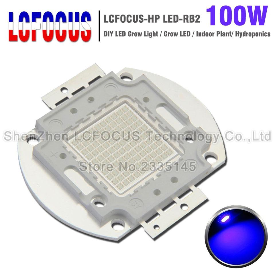 High Power LED Chip 100W Royal Blue 440nm 470nm Light Source COB DIY 100W 200W 300W Grow Light For Plant Vegetable Growth