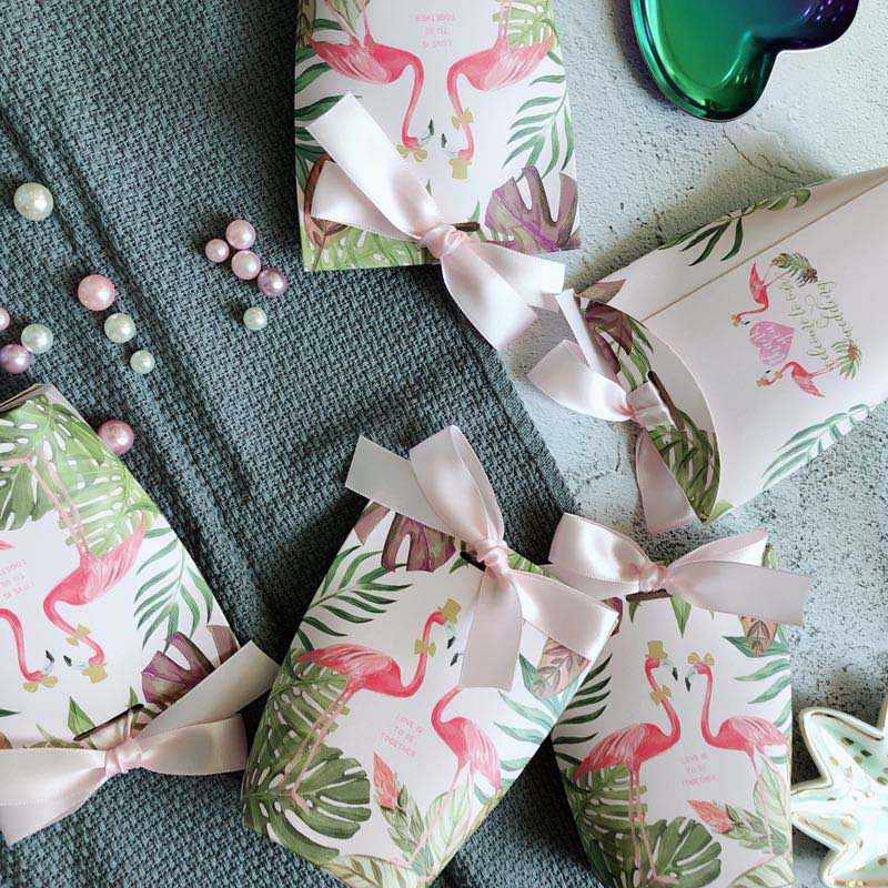 Caixa de Doces Venda quente 5 pçs/lote Caixas de Presente Caso do Açúcar Fontes Do Partido de Aniversário Do Bebê Chuveiro Favores Do Casamento Saco de Doces Com Fita