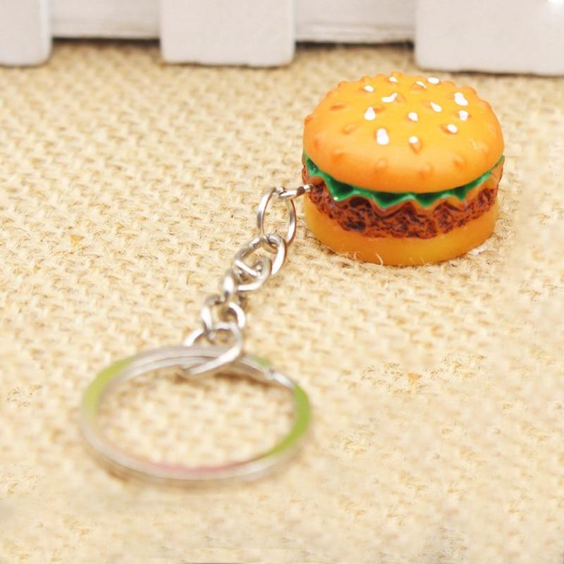 Jewelry Sets & More Birthday Gift Simulation Food Hamburger Cute Hamburger Keychain Pendant Key Ring Novelty Key Chain Christmas Gifts