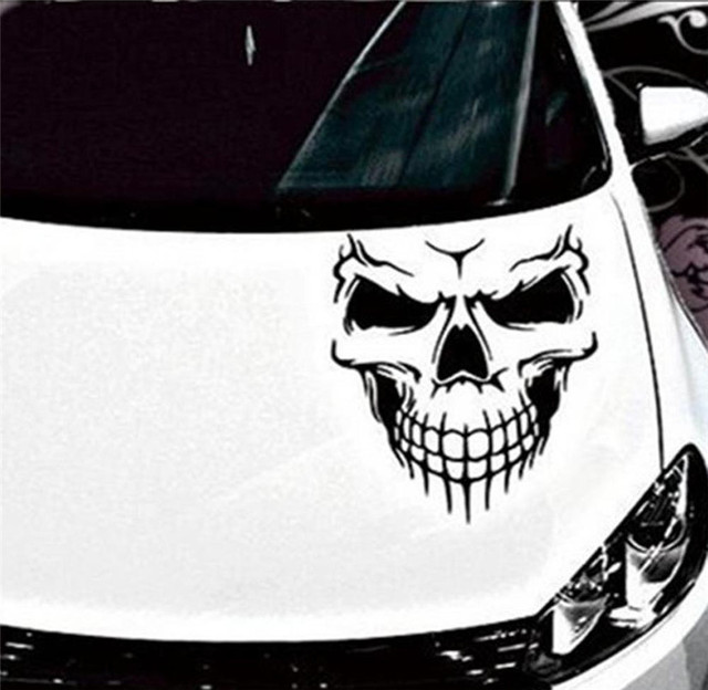Reflective skull car stickers styling removable waterproof decoration monster fashion vinyl decal sticker 20185