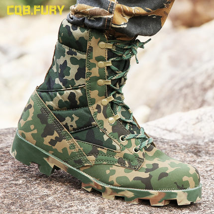 Купить с кэшбэком Men Tactical Combat Army Ankle Boots Breathable Hiking Shoes Hiking Camouflage Sport Work Safefy Mountain Climbing Shoes Boots